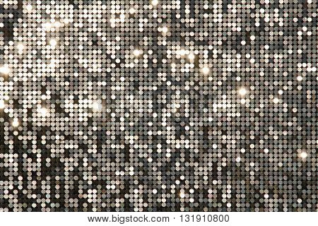 Silver background (texture) mosaic with light spots