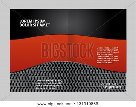 Corporate bi Fold Brochure vector illustration design