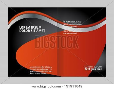 Vector blue brochure template design. vector business brochure, flyer template