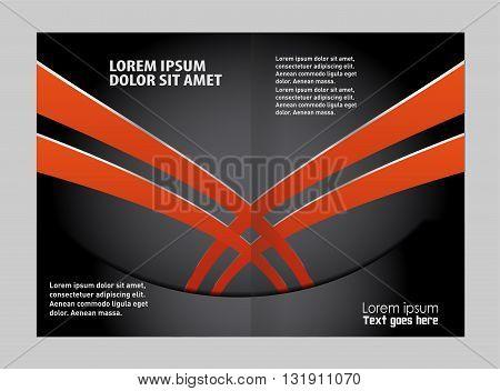 vector business brochure (booklet) template. vector business brochure, flyer template