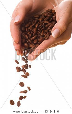 Handful of a coffee