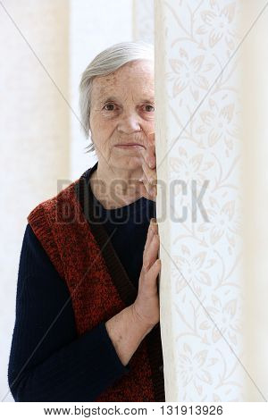 Grandma's portrait - looking at camera -