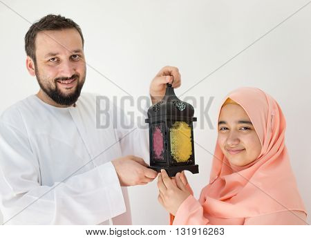 Happy couple ready for Ramadan