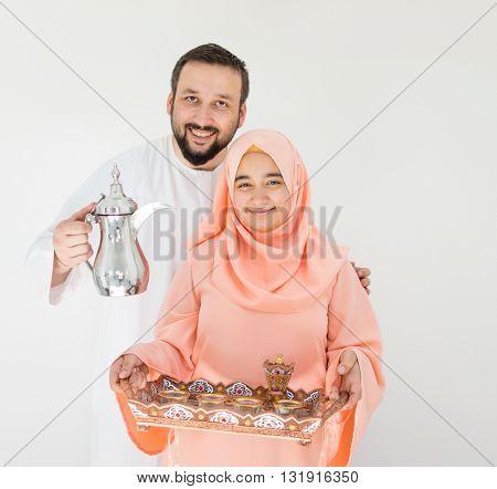 Beautiful Muslim couple