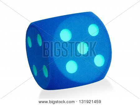 Large Blue Foam Die Isolated - 5