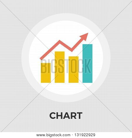 Chart icon vector. Flat icon isolated on the white background. Editable EPS file. Vector illustration.
