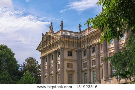 Villa Reale MilanItaly; view of beautiful neoclassic palace.