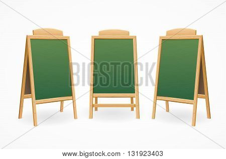 Menu Board Set Isolated for Cafes and Restaurants. Vector illustration