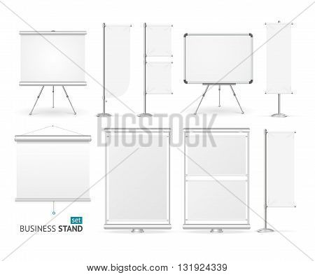 Blank Business Stand Set For Designers. Vector illustration