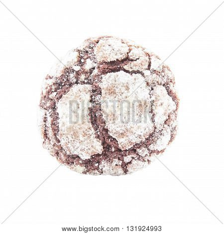 Brownies Cookies With Icing Powder  On Top View