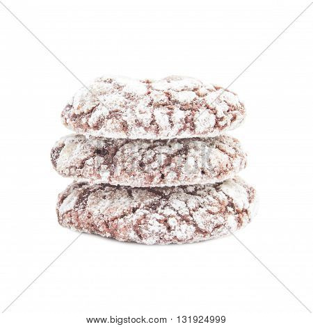 Chocolate Cookies Homemade With Icing Powder