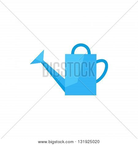 flat icon watering-can. watering can to water plants. garden tools watering-pot. watering can vector illustration. watering pot