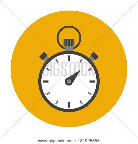 Stopwatch flat icon. Timer symbol vector illustration