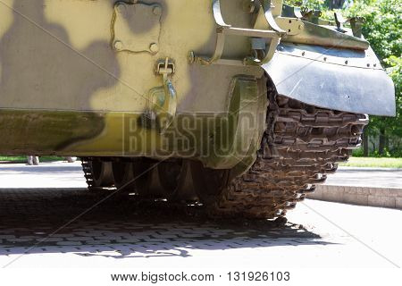 Military Tank In The Park