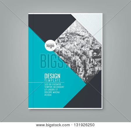 minimal simple blue color design template background for business annual report book cover brochure flyer poster