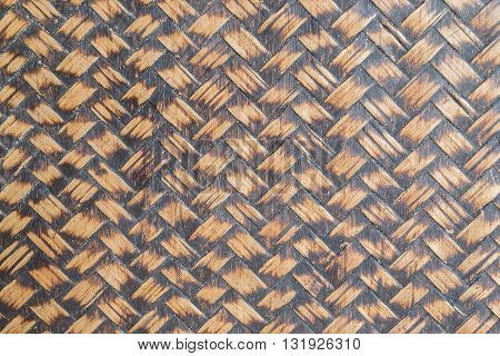 rattan weave wood pattern wall texture background