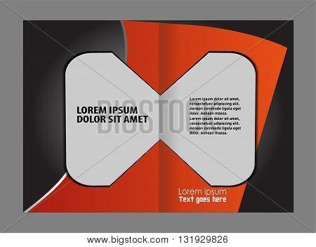 Blue brochure template. Business brochure Flyer Template