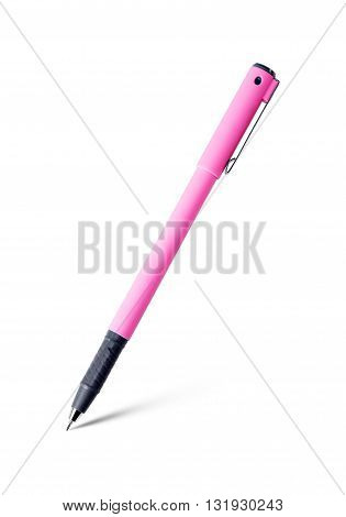 pen isolated on white background pink color