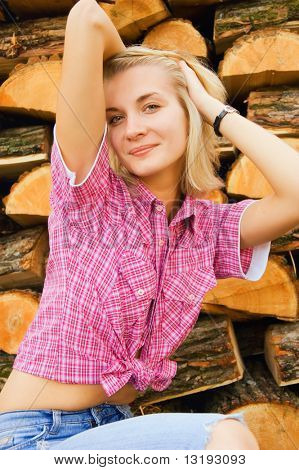 Country blond girl