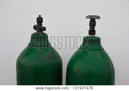 green Oxygen Tank abstract, white, background, healthy, equipment,