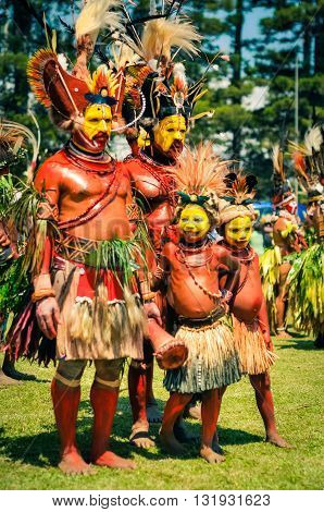 Men And Boys In Papua New Guinea
