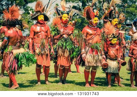 Group In Papua New Guinea