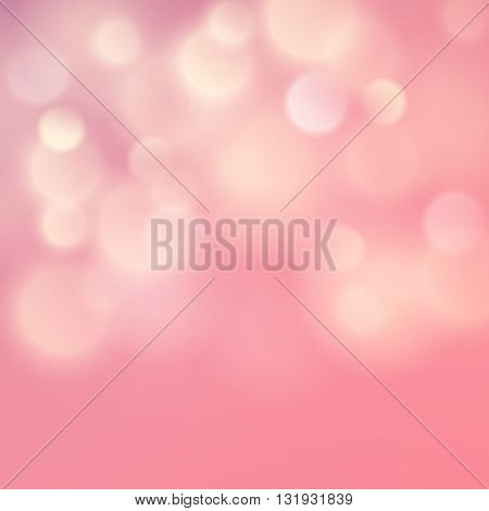 Festive abstract magic blurred defocused delicate circular colorful light bokeh vector background web templates, layout, card, vip, banners, store, present, shopping, sale, certificate, gift. Pink