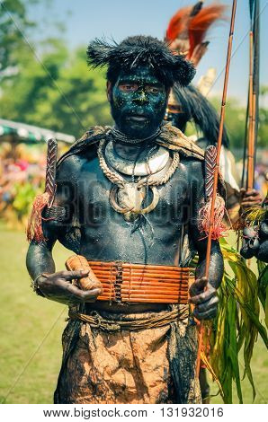 Man With Belt In Papua New Guinea
