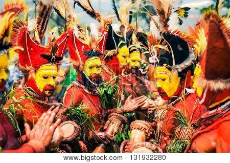 Crowd In Papua New Guinea