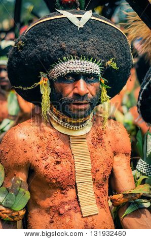 Mans Look In Papua New Guinea