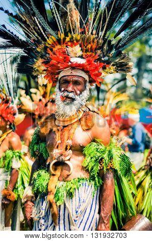 Complex Costume In Papua New Guinea