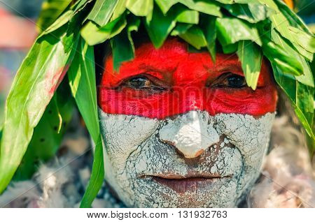 Womans Look In Papua New Guinea