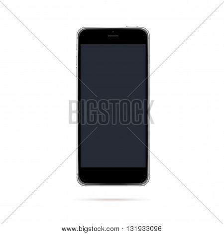 Modern black smart phone mockup vector illustration.