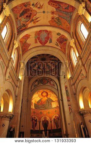 Sanary sur Mer France - april 20 2016 : the Saint Nazaire church
