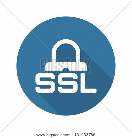 SSL Secured Icon. Flat Design Long Shadow