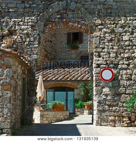 Old Buildings in Italian City of Vertine