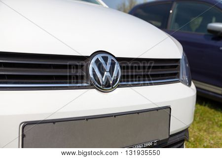 ALTENTREPTOW / GERMANY - MAY 1 2016: Volkswagen car stands on car dealer in altentreptow germany at may 1 2016.