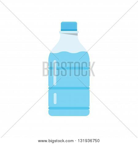 Bottle of water icon in flat style isolated on a white background. Vector illustration