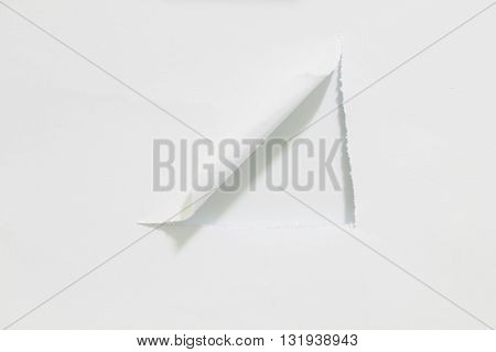 Hole paper, isolated on white background, copy space