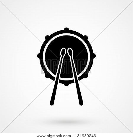 Drum Icon Black Vector On White Background
