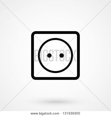 Socket Icon Black Vector On White Background