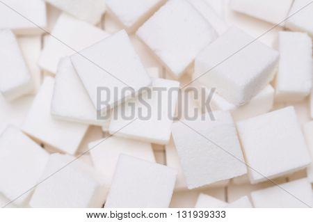 Sugar Cubes Close Up Design  For Background