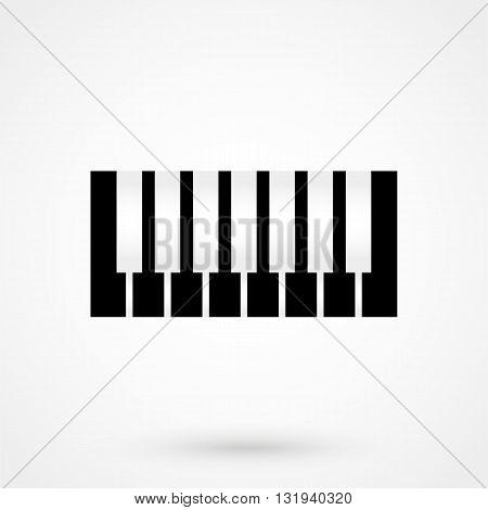 Piano Icon Black Vector On White Background