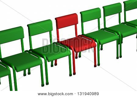 Concept - bad customer isolated on white background. 3D rendering.