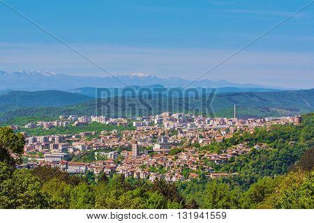 View over the city of Veliko Tarnovo Bulgaria