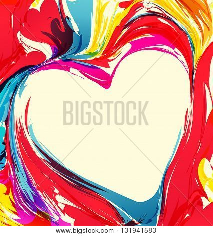 Vector colorful abstract picture, the background color, image Illustration