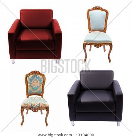 Furniture set isolated on white