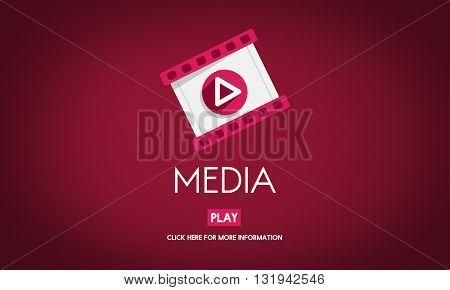 Media Digital Communication Information Social Concept
