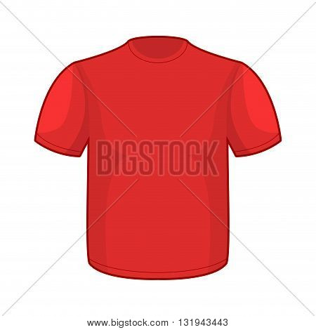 Red T-shirt Template. Empty Clothes For Your Design