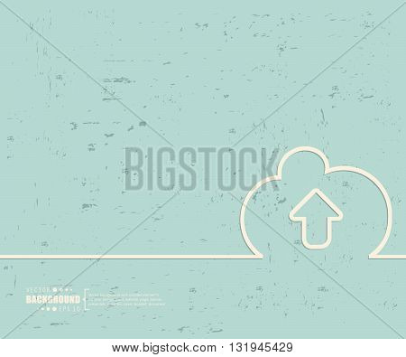 Creative vector cloud. Art illustration template background. For presentation, layout, brochure, logo, page, print, banner, poster, cover, booklet, business infographic, wallpaper, sign, flyer.